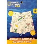 National Geographic & Teaching Tree ~ Kids Aquatic Animals Activity Pad ~ Coloring Flip Pad