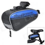 YA151 bicicleta de ciclismo personalizada bicicleta silla de montar silla cola bolsa - azul + negro