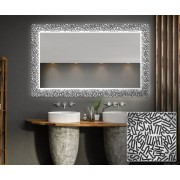 Artforma SPEGEL MED LED-BELYSNING Decor 01 40x40