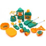 Little Treasures Camp Set designed for 3+ kid camping toy set includes a lighting lantern, gas stove, two utility...