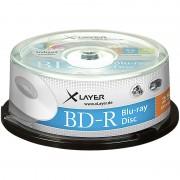 Xlayer Blu-ray-Rohlinge BD-R 25 GB 4x, printable, 25er-Spindel