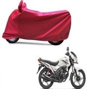 Intenzo Premium Full Red Two Wheeler Cover for Honda CB ShineSP