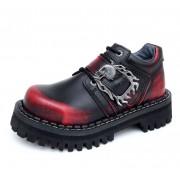 KMM cipő 4-dírky - Big Skull Black Red Monster 1P - 030
