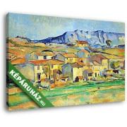 Paul Cézanne: A Sainte- Victoire hegy, Gardenne környékéről nézve (35x25 cm, Vászonkép )