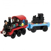 Chuggington Wooden Railway Old Puffer Pete With Anniversary Car