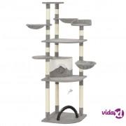vidaXL Penjalica za mačke sa stupovima za grebanje siva 190 cm