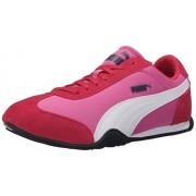 PUMA Women's 76 Runner Fun Mesh Sneaker, Phlox Pink/White, 9 B US