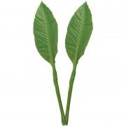 Anna's Collection 2x Groene Musa/bananenplant blad kunsttak kunstplant 74 cm