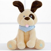 Baby Animated The Dog Plush Toy Peek A Boo Singing and Playing Stuffed Animals Interactive for Kids by Sun Tokyo