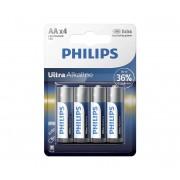 Philips LR6E4B/10 - 4 buc Baterie alcalina AA ULTRA ALKALINE 1,5V