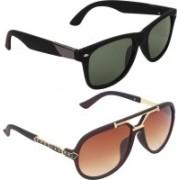 Zyaden Wayfarer Sunglasses(Black, Brown)