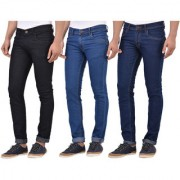 Stylox Slim Fit Pair of 3 Stylish Jeans for Men