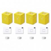 Papír mécsestartó mécsessel LightBag papír 12x14x10cm sárga (4 db/szett)