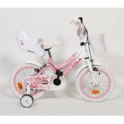 """Dječji bicikl Lola 14"""" roza bijela"""