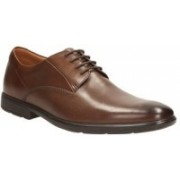 Clarks Gosworth Walk Walnut Leather Lace up For Men(Multicolor)