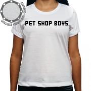 Camiseta Pet Shop Boys Logo Preto