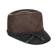 HUTTER cappello da donna Trixi con visiera in paglia naturale firmato Hutter