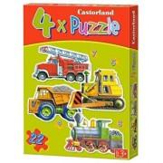 Puzzle 4 in 1 - Vehicule mari, 22 piese