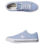 Converse Mens One Star Suede Shoe Blue Chill