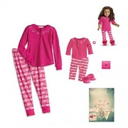 "American Girl MY AG Fair Isle Pajamas for 18"" Dolls & Girls Size Medium (10-12) in Holiday Box (Doll Not Included)"