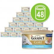 48 x 85 g Gourmet Gold Mousse - Pescados del océano (con atún)