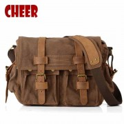 Men's shoulder hand bag canvas laptop retro bags dollar price messenger dollar price briefcase clutch man military notebook bag