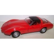 Motormax 1/24 Scale Diecast 1979 Corvette in Color Red