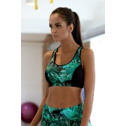 Sutien fitness Patricie frunze verzi L