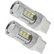 Set Becuri LED T20 cu 15 SMD Samsung, Lumina Alba (2 Faze)