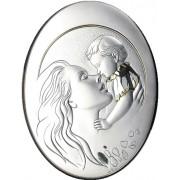 Strieborný obraz matka s dieťaťom pozláteny D05.5999.50OL