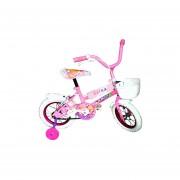 Bicicleta Infantil Rodado 12 Ruedas Inflables C/rueditas-Rosa