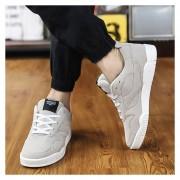Zapatos De Los Hombres Calzado Deportivo Suede Leather Zapatos De Tenis Casual Masculino -Gris