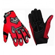 Knighthood Bike Riding Gloves - Red 03