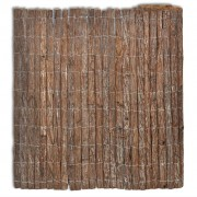 Градинска ограда от кора на дърво, 400 x 100 см