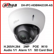 Dahua 2MP 1080P Starlight DH-IPC-HDBW4233R-AS IR 50M Mini Dome Network IP Camera with POE SD slot Audio Alarm Digital IP Camera