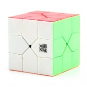 MagiDeal MoYu Skew Speed Cube Multi-colored Base Magic Cube 3x3x3 Puzzle Magic Cube Smoothly Quicky Twist Adjustable Speed Cube Eco-friendly Durable Material ABS Puzzle Cube for Kids Children Toddler
