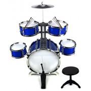 Supreme Rhythm Jazz Big Size Children Kid's Musical Instrument Toy Drum Playset w/ 5 Drums, Cymbal, Chair, Kick...