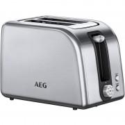 AEG AT7750 Tostadeira 2 Ranhuras 850W Aço Inoxidável