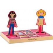 Joc din lemn Imbraca-le pe Abby si Ema Melissa and Doug