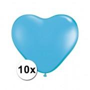 Shoppartners Hartjes ballonnen lichtblauw 10 stuks