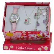 Hello Kitty set cadou ceas-bratara-lantisor cu pandantiv
