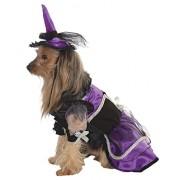 Rubie's Costume Halloween Classics Collection Pet Costume, Medium, Purple Witch Dress and Hat
