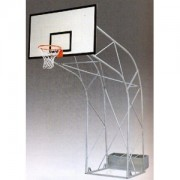 Impianto Basket Traliccio con Ruote Sbalzo cm.225