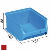 Allit Plastové boxy plus 2b, 137 x 160 x 82 mm, červené, 20 ks