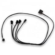 Cablu Splitter 1-to-4 PWM EK Water Blocks EK-Cable de la 4-pini PWM la 4x4-pini PWM, 40cm, alimentare molex sursa