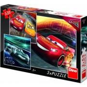 Puzzle 3 in 1 Dino Toys Cars 3 Cursa cea mare 55 piese Multicolor