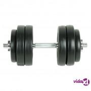vidaXL Tegovi za vježbanje 15 kg