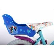 Bicicleta Volare pentru fete 12 inch cu scaun pentru papusi roti ajutatoare si cosulet Frozen