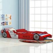 vidaXL детско легло състезателна кола 90 х 200 см, червен цвят