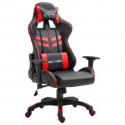 vidaXL Геймърски стол, червено, PU